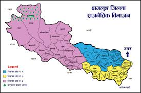 Map Of Nepal In Asia by ब गल ङ ज स स