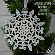 swarovski handmade snowflake ornament the inspiration vault