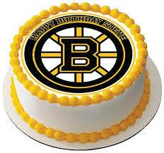 Hockey Cake Decorations Boston Bruins Edible Cake U0026 Cupcake Toppers U2013 Edible Prints On