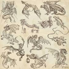 dragons collection of an hand drawn full sized illustrations