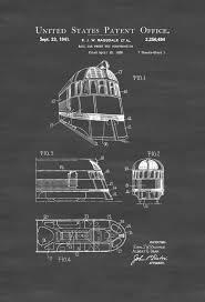 What Size Paper Are Blueprints Printed On by Zephyr Train Patent Print Vintage Train Car Train Blueprint