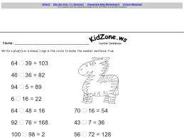 addition addition worksheets kidzone free math worksheets for