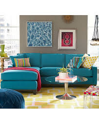 Small Yellow Rug Furniture Blue Sectional Couches With Patterned Yellow Rug And