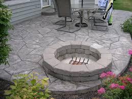 diy stamped concrete patio home