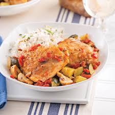 cuisiner un poulet poulet sauce aux légumes du jardin soupers de semaine recettes 5