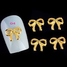 wholesale pack mix style golden sliver 3d nail art charm