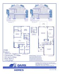 Floor Plans For 2 Story Homes by Palm Coast South Adams Homes