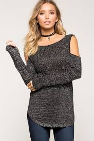 cold shoulder sweaters s sweaters shine on cold shoulder sweater a gaci