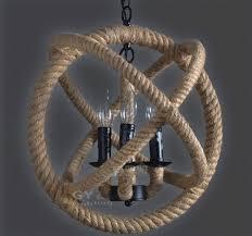 Nautical Pendant Lights Rope 3 6 Lights Art Deco Pendant Lights Rustic Nautical Hanging