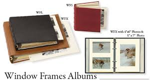 acid free photo album window frame leather photo albums