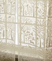 rod pocket curtains drapes tree of life lace panel country