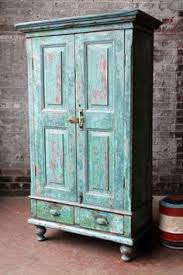 Antique Green Kitchen Cabinets Antique Rustic Chic Bright Green Indian Bar Storage Kitchen
