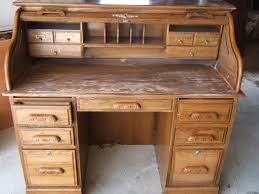 oak roll top secretary desk best home furniture decoration