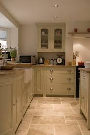 tiled kitchen floor ideas burford kitchen from howdens oak worktops tiles with