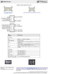 nissan x trail head unit pinout diagram pinoutguide com