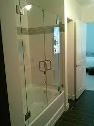 inline door and panels the original frameless shower doors