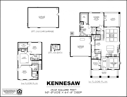 Floor Plan Elevations by Kennesaw Dream Finders Homes