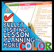 editable teacher binder bullet lesson planning template brights