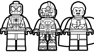 lego spiderman vs lego shazam vs lego cyborg coloring pages