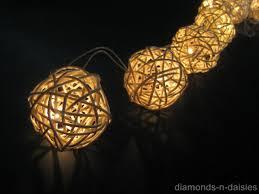 String Ball Lights by 20 Warm White Wicker Rattan Ball Led String Fairy Lights Lanterns