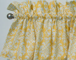 Damask Kitchen Curtains by Yellow And White Curtains White And Yellow Kitchen Curtains