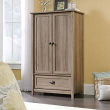 Sauder Shoal Creek Armoire Wardrobe Cabinets With Doors Find Modern Armoire Storage For