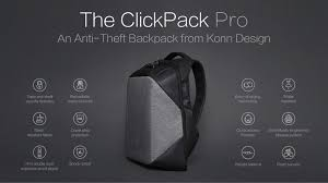 clickpack pro the best functional anti theft backpack by korin