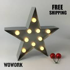battery operated star lights led illuminated metal star light battery operated l baby room