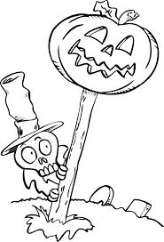 skeleton coloring skeleton jack lantern