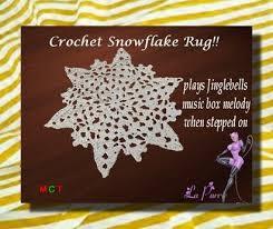 second life marketplace crochet snowflake rug