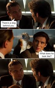 Inception Memes - leonardo dicaprio imitates a dog beheading boredom
