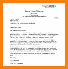 7 requesting letter sample students resume