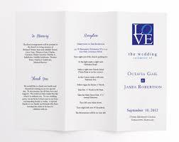 wedding ceremony program order of service philadelphia love