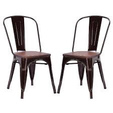 Tolix Bistro Chair Costway Rakuten Costway Set Of 2 Tolix Style Dining Side Chair