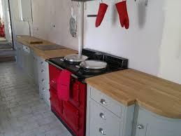 Tiled Kitchen Worktops - small kitchen decoration using light brown oak kitchen wooden