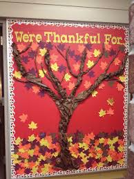 thanksgiving bulletin board twist butcher paper to make tree