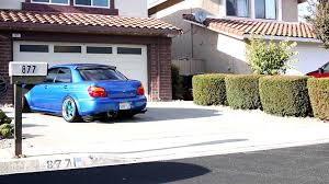 stanced subaru hd meaty stance subaru wrx sti reversing out of driveway youtube