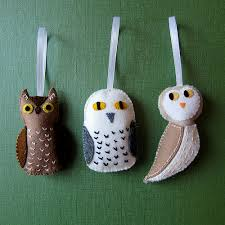 felted owl tree ornaments a gallery on flickr