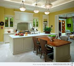 Beautiful Kitchen Island With Table Attached Beautiful - Dining room island tables