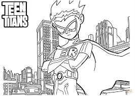 robin teen titans coloring free printable coloring pages