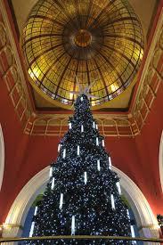 the famous qvb swarovski christmas tree spanning a full three