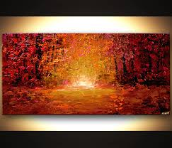 Abstract Landscape Painting by Landscape Painting Textured Abstract Landscape Colorful Forest