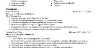 Automotive Technician Resume Sample by Auto Body Repair Resume Example Auto Mechanic Resume Templates