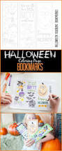 Halloween Fun Pages Printables Halloween Coloring Page Free Halloween Bookmarks On Capturing Joy