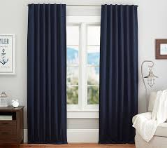 Navy Blackout Curtains Quincy Cotton Canvas Blackout Panel Pottery Barn