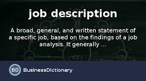 what is job description definition and meaning