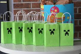 minecraft goody bags personalised favor bags matteo party