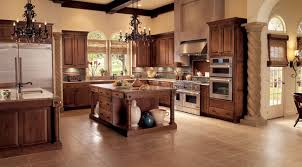 Oak Kitchen In Cognac KraftMaid - Cognac kitchen cabinets