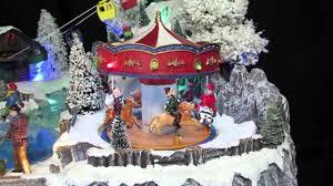 illuminated animated u0026 musical winter resort village scene
