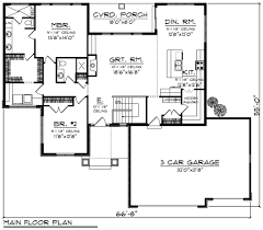 ranch style house plan 2 beds 2 00 baths 1709 sq ft plan 70 1208